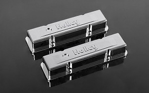 RC4WD 1/10 Holley® Chrome Valve Covers for Scale V8 Engine