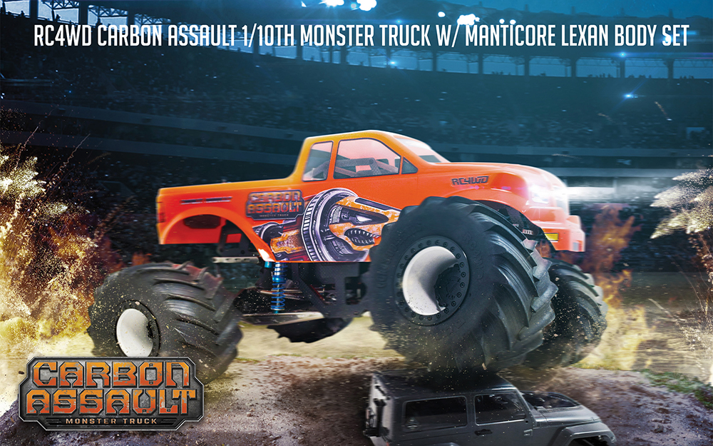 Carbon Assault 1/10th Monster Truck